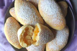 pieczone pączki z semoliny